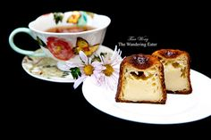 """Inside the Cannelé de Bordeaux with a cup of Mariage Frères """"Marco Polo"""" tea.    Picture only, no recipe."""