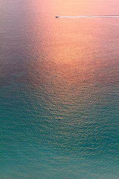 Sun's glow on the ocean
