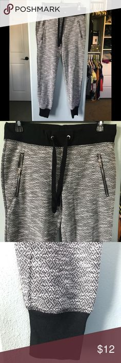 Grey Jogger Pants Black and grey jogger sweatpants. Run a little big but very comfy material. Faux pockets in the back, real zipper pockets in the front.  Happy to take offers for individual or bundled items! Green Tea Pants Track Pants & Joggers