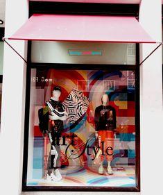 Shane O'Malley artist Brown Thomas window display art and style for Brown Thomas Social Art, Window Stickers, Dublin, Luxury Branding, Arcade, Graffiti, Windows, Display, Brown