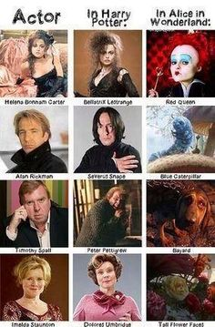 I didn't know the guy who played Peter Pettigrew was the voice of the hound in Alice in Wonderland...