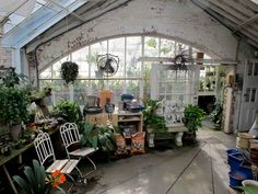 How about a greenhouse with more than one room? I like the idea of a greenhouse that incorporates living space as well as growing space. A place for morning coffee, or a small dining table for entertaining, or a claw foot tub with hot and cold water to bathe surrounded by lush green growing beautiful plants.