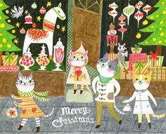Cats' Christmas shopping on Behance