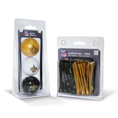 New Orleans Saints NFL 3 Ball Pack and 50 Tee Pack