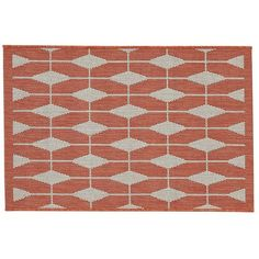 Crate & Barrel Aldo Mandarin Indoor-Outdoor 2'x3' Rug ($20) ❤ liked on Polyvore featuring home, rugs, patterned area rugs, concrete floor covering, stain resistant rugs, patterned rugs and crate and barrel