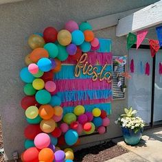 Mexican Birthday Parties, Mexican Fiesta Party, Fiesta Theme Party, Fiesta Party Centerpieces, Mexican Party Decorations, Birthday Party Decorations, Balloon Decorations, Fiesta Photo Booth, Balloon Garland