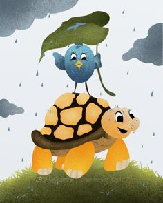 Turtle Childrens Wall Art 8 x 10 Print Bird di NaturesHeavenlyArt, $16,00