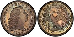 Graded PCGS SP-67, this 1794 Flowing Hair Half Dime from the D. Brent Pogue Collection will be displayed at the January 2015 Long Beach Expo.  (Photo credit: PCGS.)