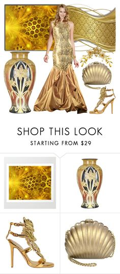 """""""Golden Days Contest!"""" by bevmardesigns ❤ liked on Polyvore featuring Dale Tiffany and Chanel"""