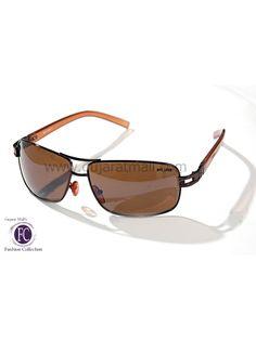 Buy Designer Sunglasses Authentic Wear Brown Metallic Frame Brown Lens • GujaratMall.com