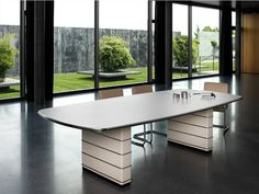 Steel Meeting table / Lecture table Classic Line Collection by Müller
