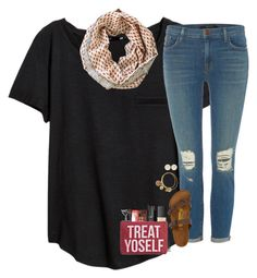 """""""treat yoself"""" by hailstails ❤ liked on Polyvore featuring H&M, Alex and Ani, J Brand, Birkenstock, NARS Cosmetics, Bobbi Brown Cosmetics, Too Faced Cosmetics, BBrowBar, Circus By Sam Edelman and Maelu"""