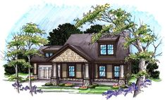 House Plan 72978 | Bungalow   Craftsman    Plan with 1464 Sq. Ft., 3 Bedrooms, 3 Bathrooms, 2 Car Garage