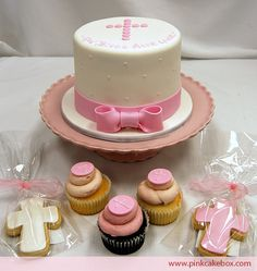 Dedication/Baptism cake, cupcakes, and cookies