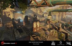 ArtStation - Gears of War 4 Multiplayer - MP_Dam Concept art, Nikolay Georgiev