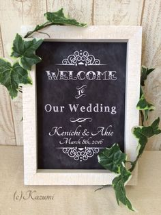 Wedding Chalkboard sign Print  A4 Old Fashioned by KazumiCreations