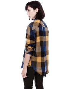 TWO POCKET CHECK PRINT SHIRT Camisa Cuadros d01f4025681