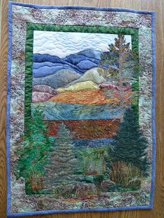 Crooked Gulley Art Quilts: Finished Blue Ridge Quilt
