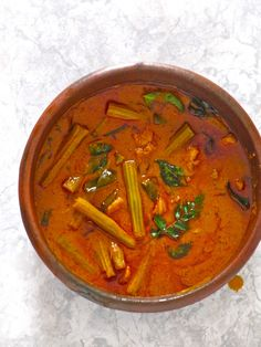 Plateful: Kerala Prawn and Drumstick Curry — Chemmeen Muringakka Curry