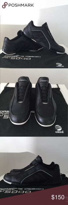 Porsche design x Adidas Men's black shoes 100% Authentic_Pre-owned_Porsche design x Adidas Men's super cool carbon sole shoes_condition:Very good including original dust-bag Porsche Design Shoes Sneakers