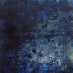 """Saatchi Art Artist FRANCOIS RÉAU; Painting, """"ABSTRACT PAINTING 140721-Le bassin, reflets bleus"""" #art"""