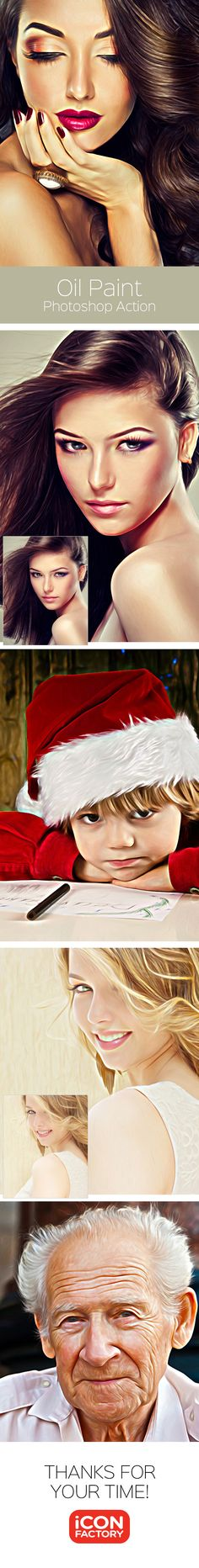 Oil Paint - Photoshop Action - Photo Effects Actions