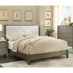 Features: -Frame Construction: Wood and veneers. -Finish: White. -Padded leatherette headboard. -Tapered feet. -Nina collection. Frame Material: -Wood. Headboard Included: -Yes. Slats Required