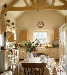 The kitchen table in Sonya & Glen's barn conversion near Donaghadee in County Down.