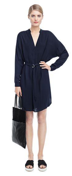 Crepe Summer Belt Dress - Dresses - Woman - Filippa K