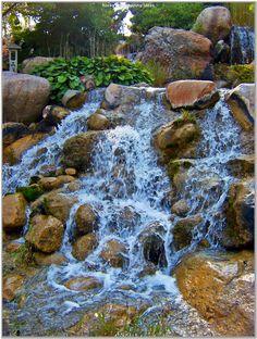 file waterfall at japanese water garden jpg