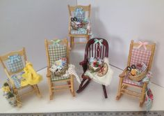 Dolls House Miniatures Sewing Chair for a por LittleHouseAtPriory