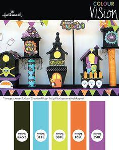 A fun Halloween color theme.