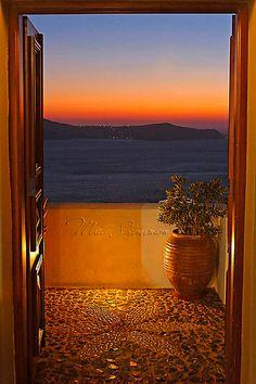 Sunset Door in Fira, Santorini