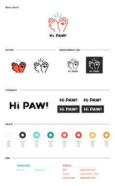 HiPaw- A pet adoption platform on Behance Corporate Design, Brand Identity Design, Pet Branding, Identity Branding, Corporate Identity, Design Graphique, Brand Board, Brand Guidelines, Animal Logo