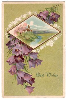 Beautiful Antique Best Wishes Postcard 1909 by VintagenutsInc