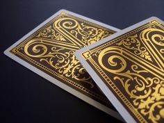 The first ever playing card deck with hot stamped gold foil on EACH card back. -Designed and produced by Lotrek