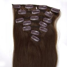 FANGYUANHAIR Straight Clip In Human Hair ExtensionsBeauty Salon Womens Accessories18inch 70g Color 4 medium brown >>> You can find out more details at the link of the image.Note:It is affiliate link to Amazon.