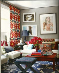 bold colors and prints