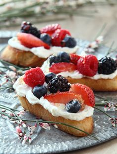 Mascarpone Berry Bruschetta