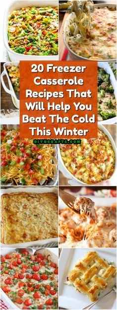 20 Freezer Casserole Recipes That Will Help You Beat The Cold This Winter via @vanessacrafting