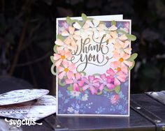 Free Floral Circle Card from SVGCuts #svgfiles #svgcuts #thankyou
