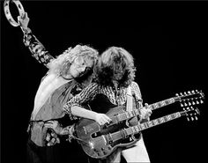 Led Zeppelin, 1975: Robert Plant & Jimmy Page