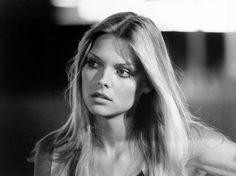 *A young and very beautiful Michelle Pfeiffer, late 70s.
