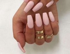Pink + matte + coffin shaped = matchmade in mani heaven baby pink nails acrylic, Baby Pink Nails Acrylic, Acrylic Nails Natural, Matte Acrylic Nails, Matte Pink Nails, Light Pink Nails, Acrylic Nail Shapes, Blue Nails, Acrylic Nail Designs, Peach Nails