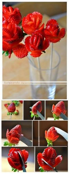 Strawberry bouquet - serve with chocolate dip!