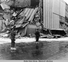 1964 alaska earthquake photos | Soldiers guarding store after 1964 earthquake. :: Alaska ... | Alaska