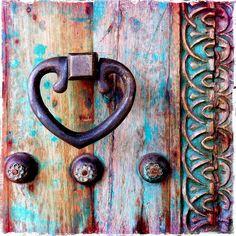 """Doors - Ottoman Door - Antique Door - Moroccan Door - Tunusian Door """"And Door Knobs And Knockers, Knobs And Handles, Door Handles, The Doors, Windows And Doors, Front Doors, Door Detail, Door Accessories, Unique Doors"""