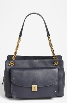 Tory Burch -'Priscilla' Shoulder Bag available at #Nordstrom  I'm kind of digging this navy color. would be totes adorb with a whole navy 'sailor' outfit theme.