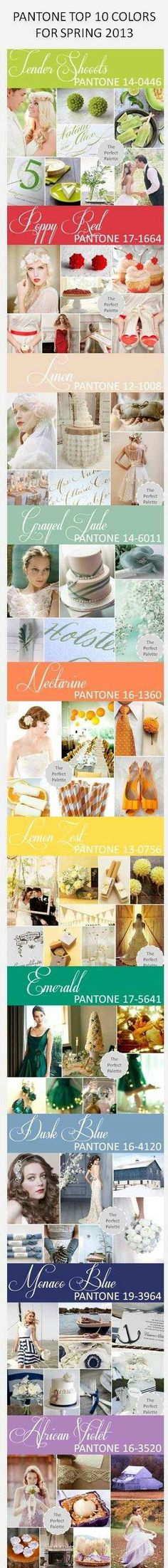 Top 10 colours for spring weddings 2013