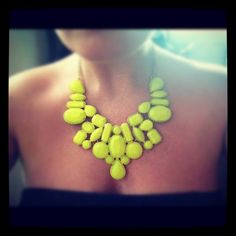 DIY necklace out of gems and spray paint